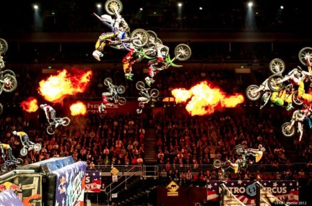BMX Fresstyle Motocross and Skateboarding action all night long at Nitro Circus