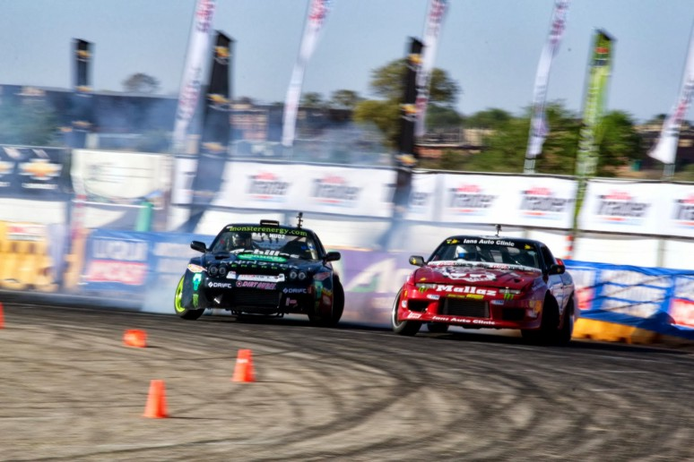 Radloff leads with Jason Webb following in the Supadrift Series 07 drifting action