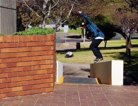 Dean Marais doing what he does best on a Skateboard