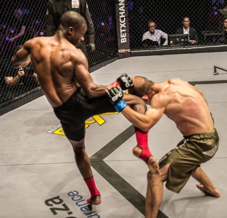 Boney Bukaka's MMA skills gave hime the win at EFC Africa 25