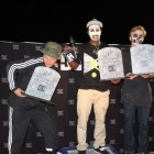 Khule Ngubane takes the top step at the DC Halloween Skateboarding Jam