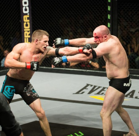 Liam Cleland vs Jason Culverwell was a bloody mess of a Mixed Martial Arts fight