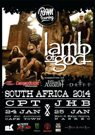 Lamb of God set to entertain South African music and metal fans