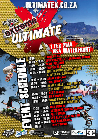 Ultimate X 2014 featuring BMX Skateboarding Freestyle Motocross Wakeboarding and MTB