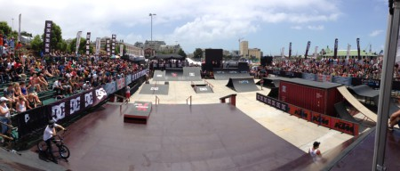 The BMX park at Ultimate X 2014
