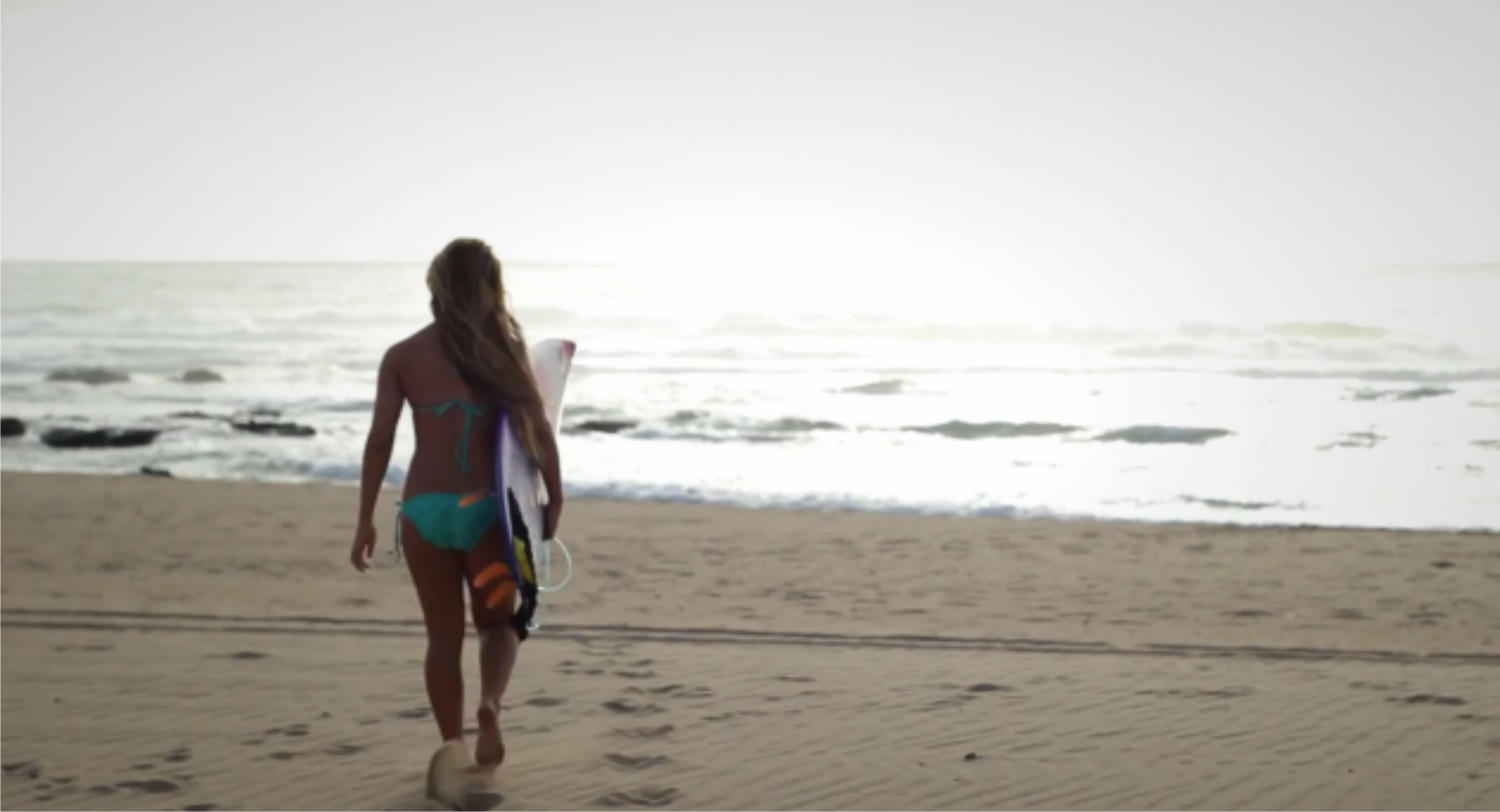 Chanelle Botha featured in her latest surfing video