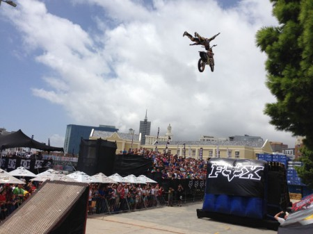 Huge Rock Solid by Alastari Sayer during the FMX show at Ultimate X