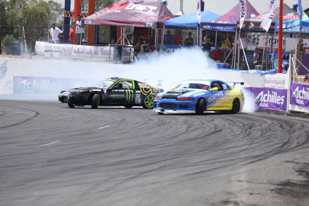 Sideways action at round 1 of the 2014 Supadrift Series