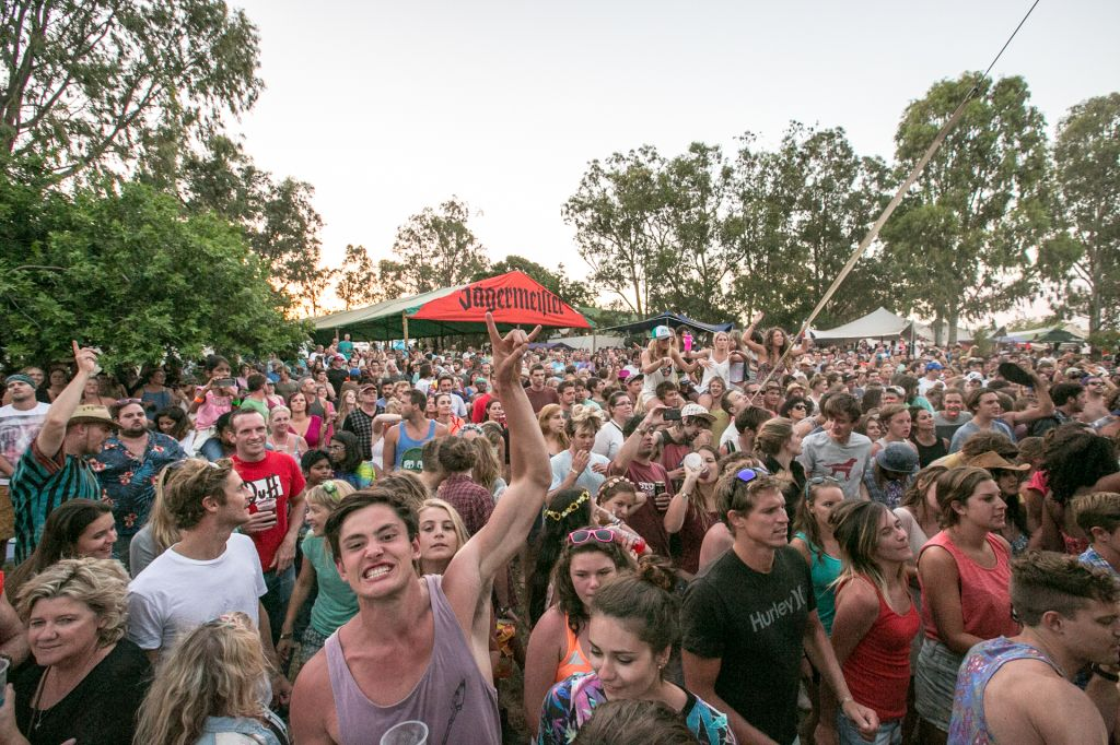 South African Music fans loosing their minds at Up The Creek 2014