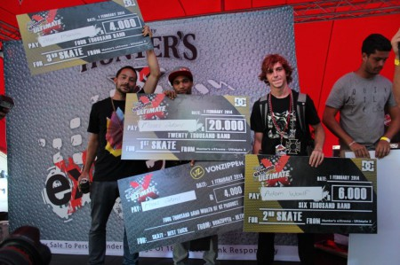 Skateboarding podium from Ultimate X