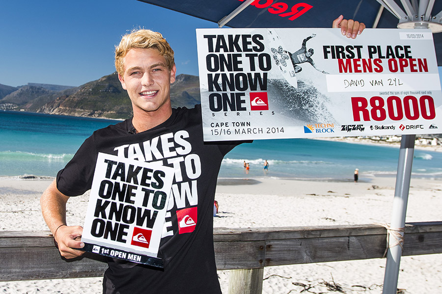 David van Zyl wins stop 1 of the Quiksliver Takes One To Know One surfing series