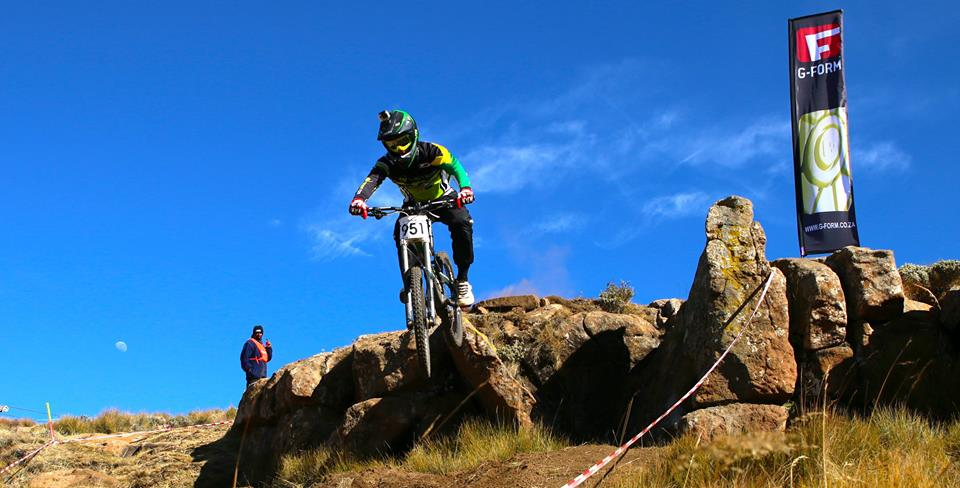 Tiaan Odendaal win the first ever Afriski Downhill MTB national