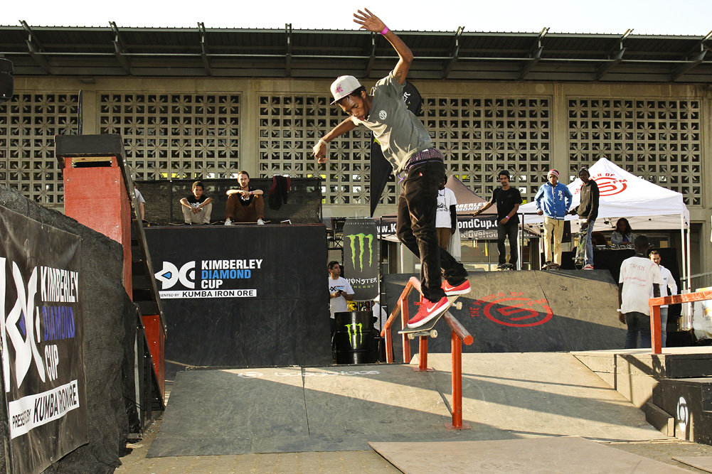 Kanya Spani win the Skateboarding for Hope Tour in Soweto
