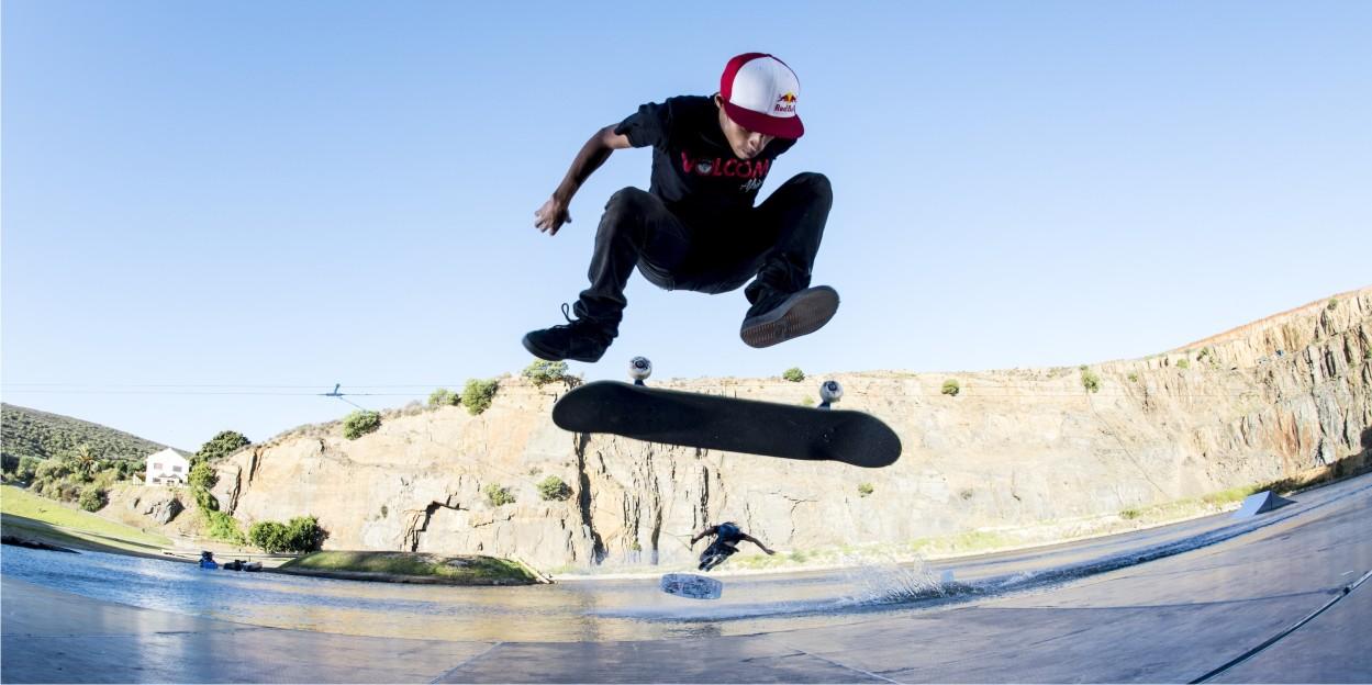 Game of Skate GoPro version featuring Wakeskating vs Skateboarding