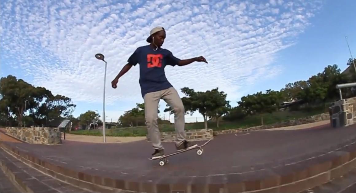 Khule Ngubane featuring in Khule's Journeys skateboarding video