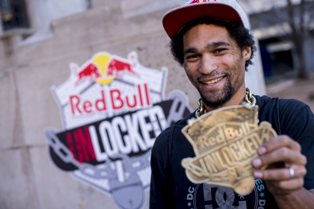 Moses Adams takes the gold at the Red Bull Unlocked Skateboarding contest