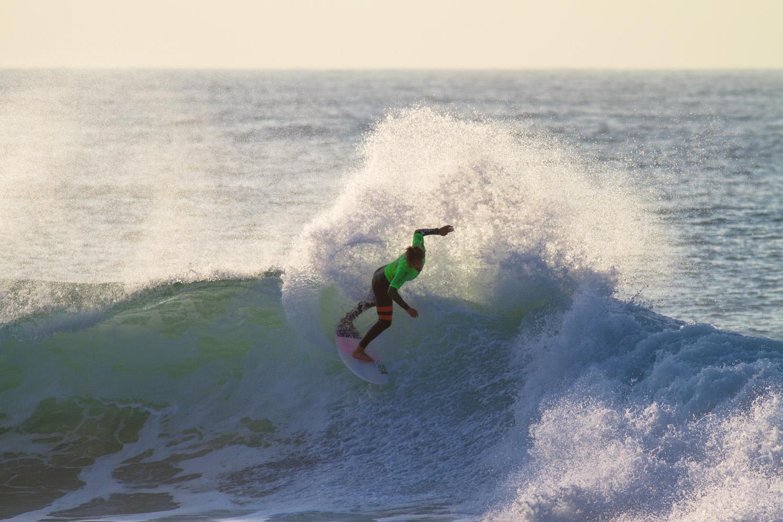 Nic Von Rupp surfing in the Mr Price Pro Ballito