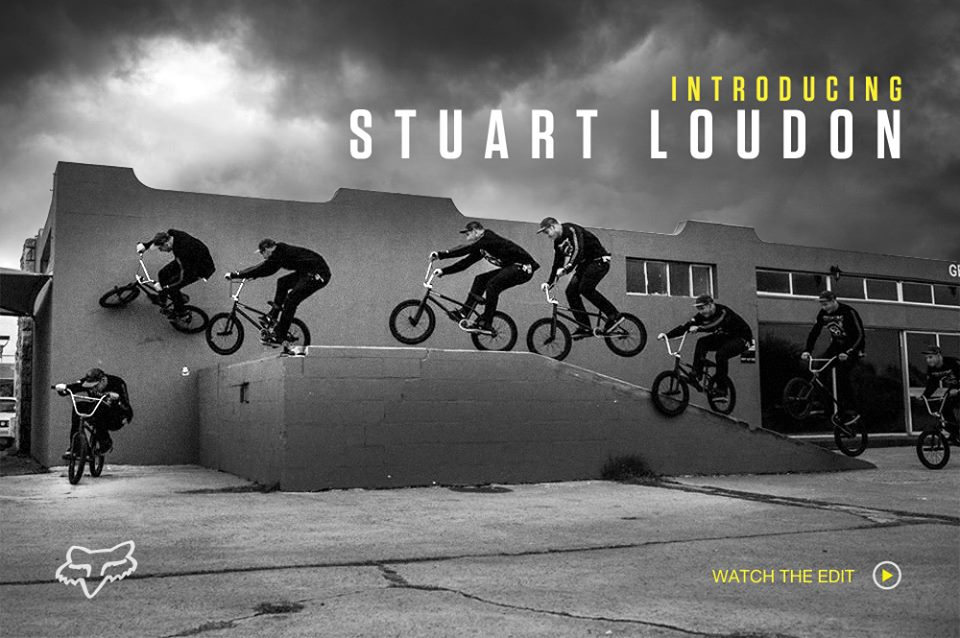 Stuart Loudon has just dropped his welcom to the team BMX video for Fox BMX
