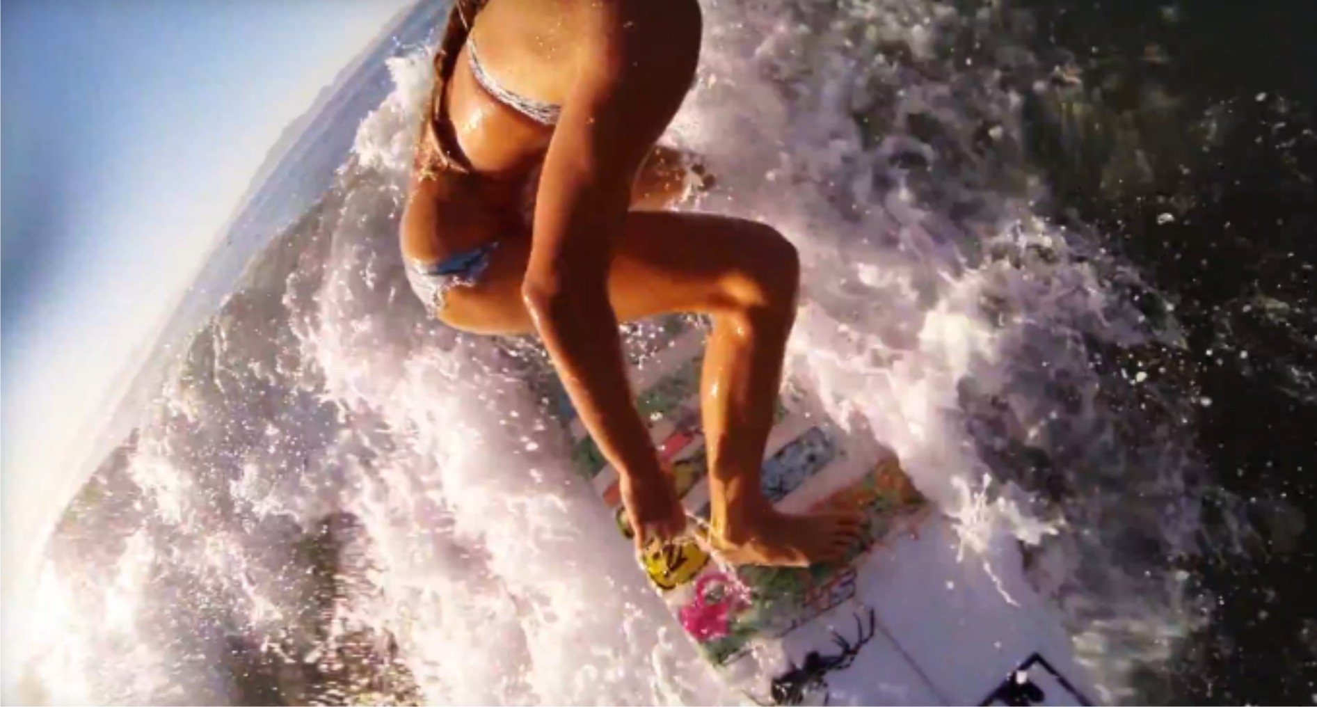Tanika Hoffman surfing her local break and getting insane GoPro footage