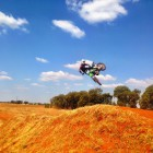 Danny Lailvaux showing his motocross skills