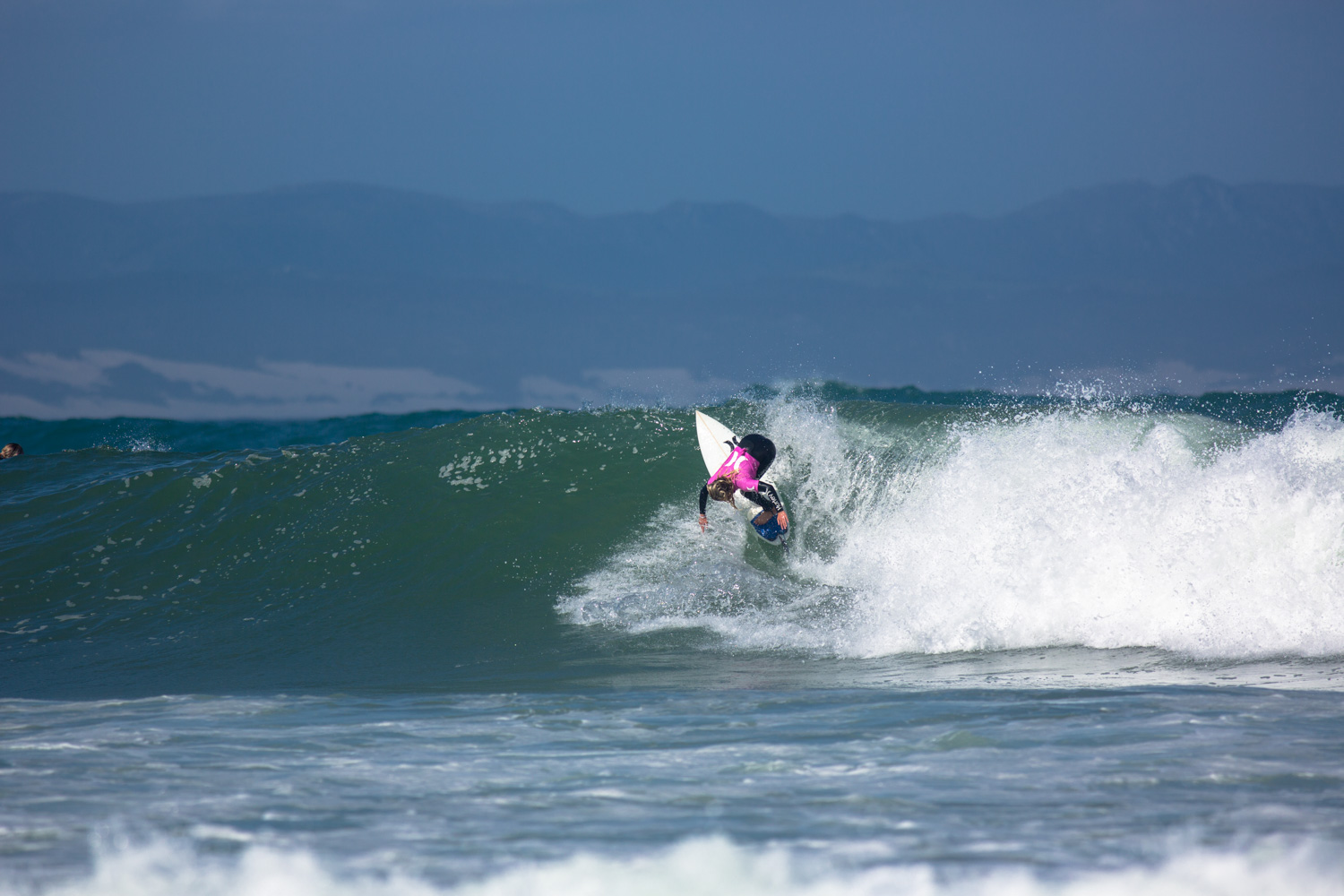 Kai Woolf surfing at the 2014 Hurley SA Junior Champs