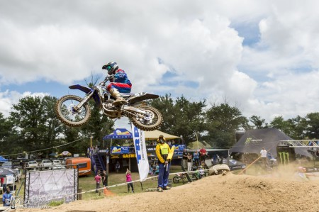 Matthew Malan taking the MX2 win in Harrismith