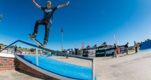 Skateboarding action from the Midway Mayhem Open Division