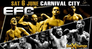 EFC 40 bringing an exciting MMA fight card to Carnival City