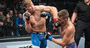 Dino Bagattin vs Dricus du Plessis at EFC 40 showcasing MMA action