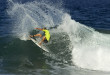 Beyrick De Vries surfing his way to victory at the second of three Quiksilver Get Free Series contests