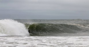 Matt Bromley surfing some of the longest barrels of his life