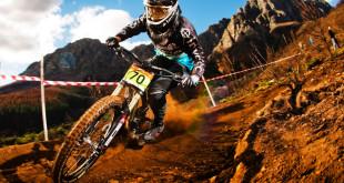 Stefan Garlicki claiming the Downhill MTB SA national championship