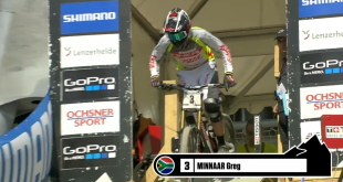 Watch the record breaking Downhill MTB World Cup run by Greg Minnaar
