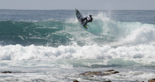 Joshe Faulkner showing his surfing skills ahead of the Billabong Junior Series