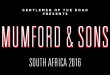 Mumford & Sons announce SA Tour