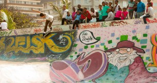 Kevin Long skateboarding the Durban beachfront park
