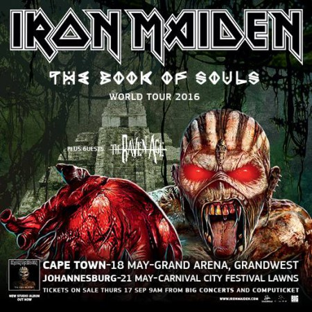 iron maiden south african tour dates announced lw mag. Black Bedroom Furniture Sets. Home Design Ideas