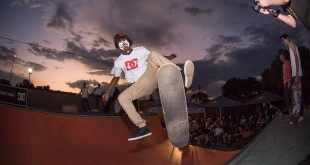Khule Ngubane skateboarding his way to victory at the 2015 Halloween Jam