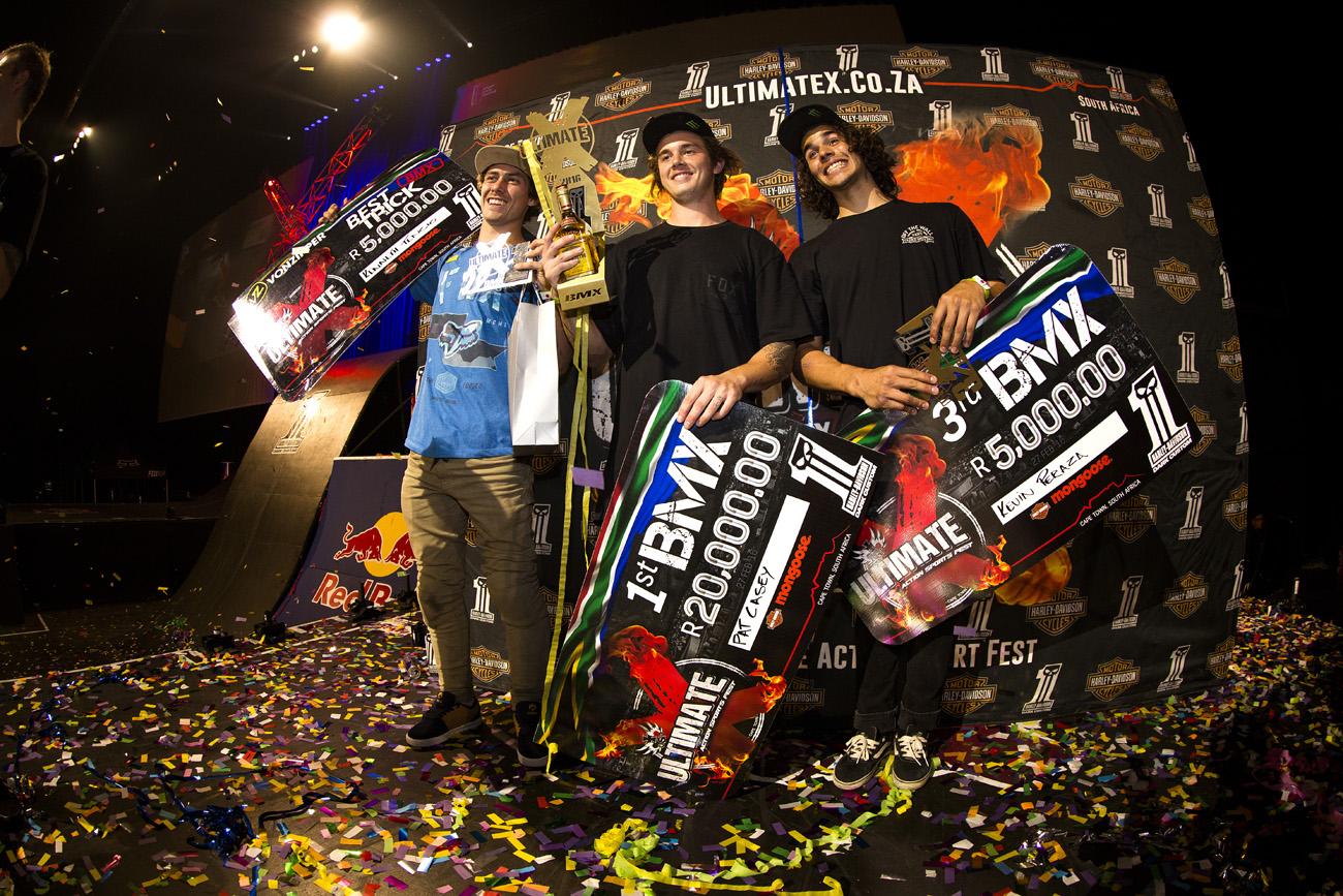Ultimate X 2016 BMX Podium