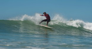 Daniel Orpen surfing his way to the Under 15 Billabong SA Grom Games win