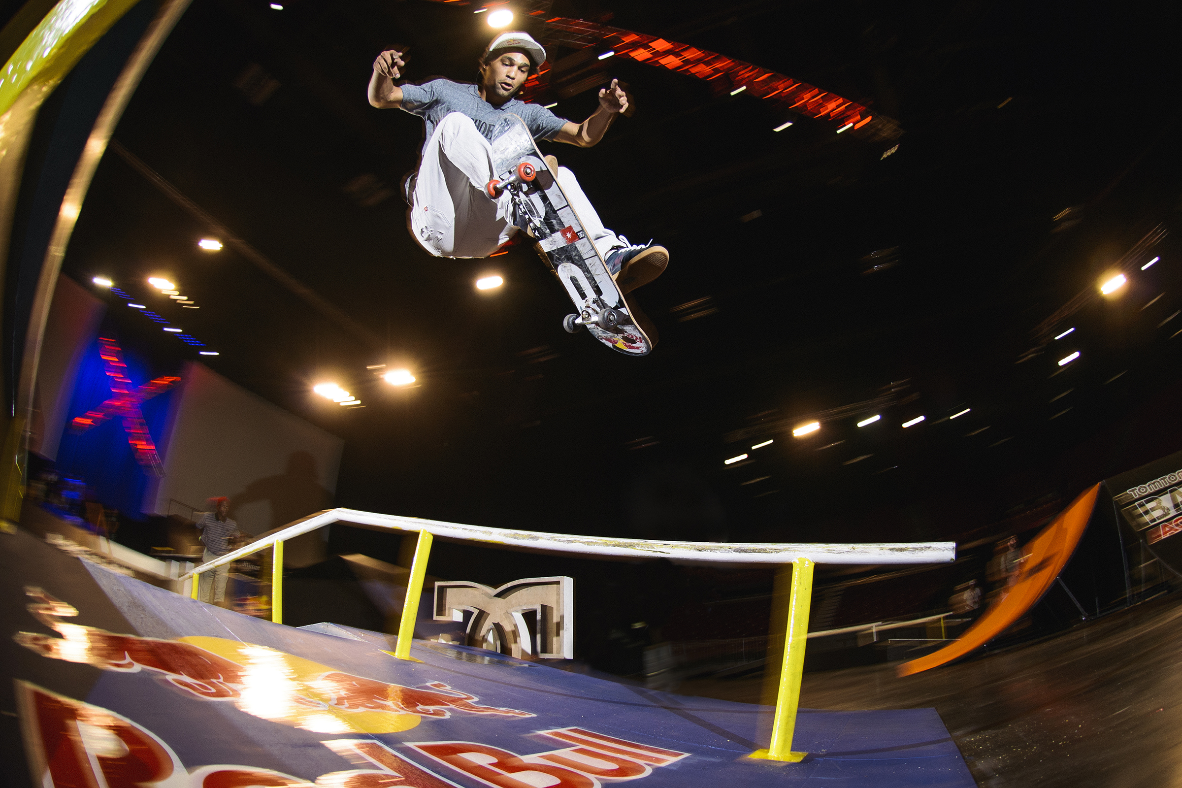Moses Adams during the Ultimate X 2016 Skate final