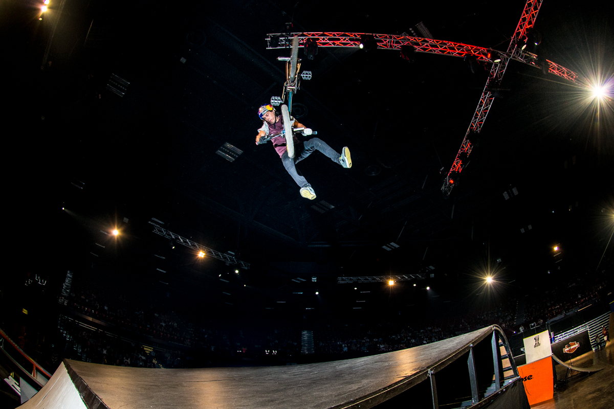 Daniel Dhers during the Ultimate X 2016 BMX final