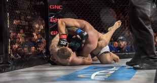 MMA Action with Danie van Heerden claiming the EFC Heavyweight Title fight