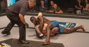 The EFC Middleweight MMA title fight between Yannick Bahati and JP Kruger
