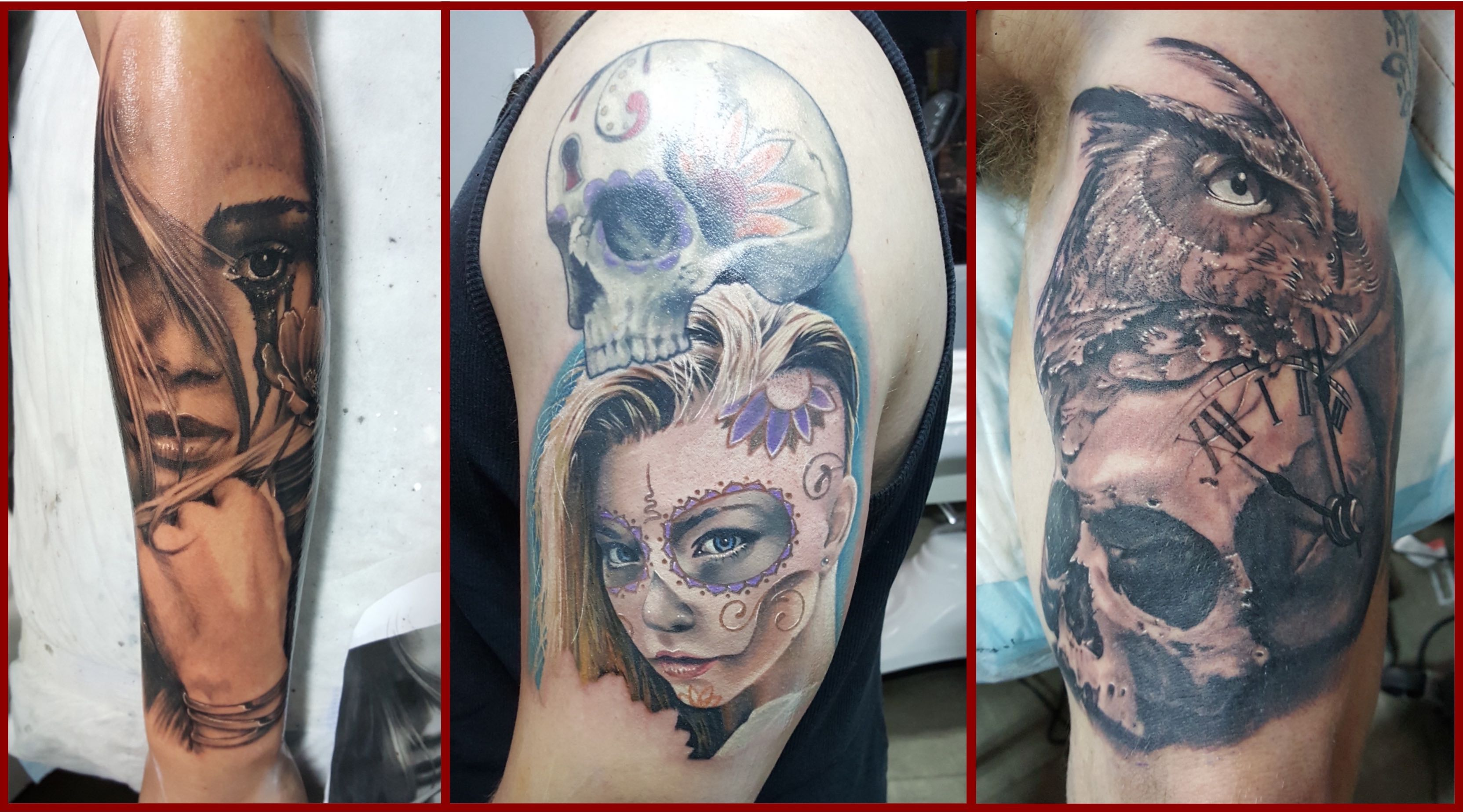 Tattoo work done by Bryan Du Rand