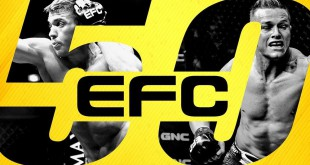 EFC 50 from Sun City with 12 MMA fights on the card