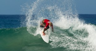 Jordy Maree surfing his way to victory at the Quiksilver Junior Pro
