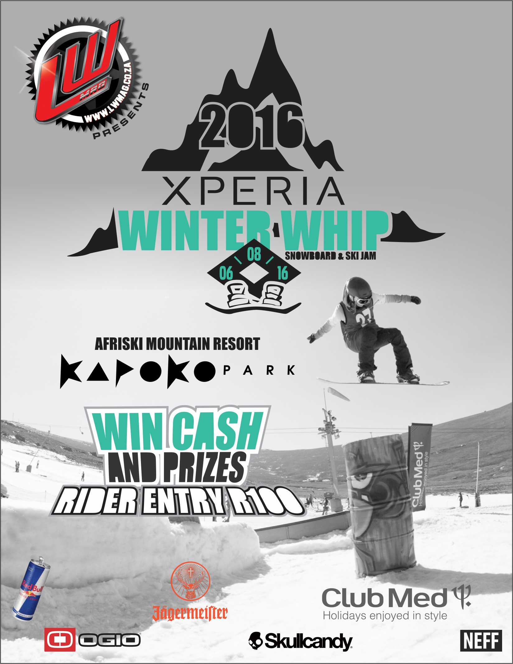 2016 Xperia Winter Whip Snowboarding and Skiing event announced