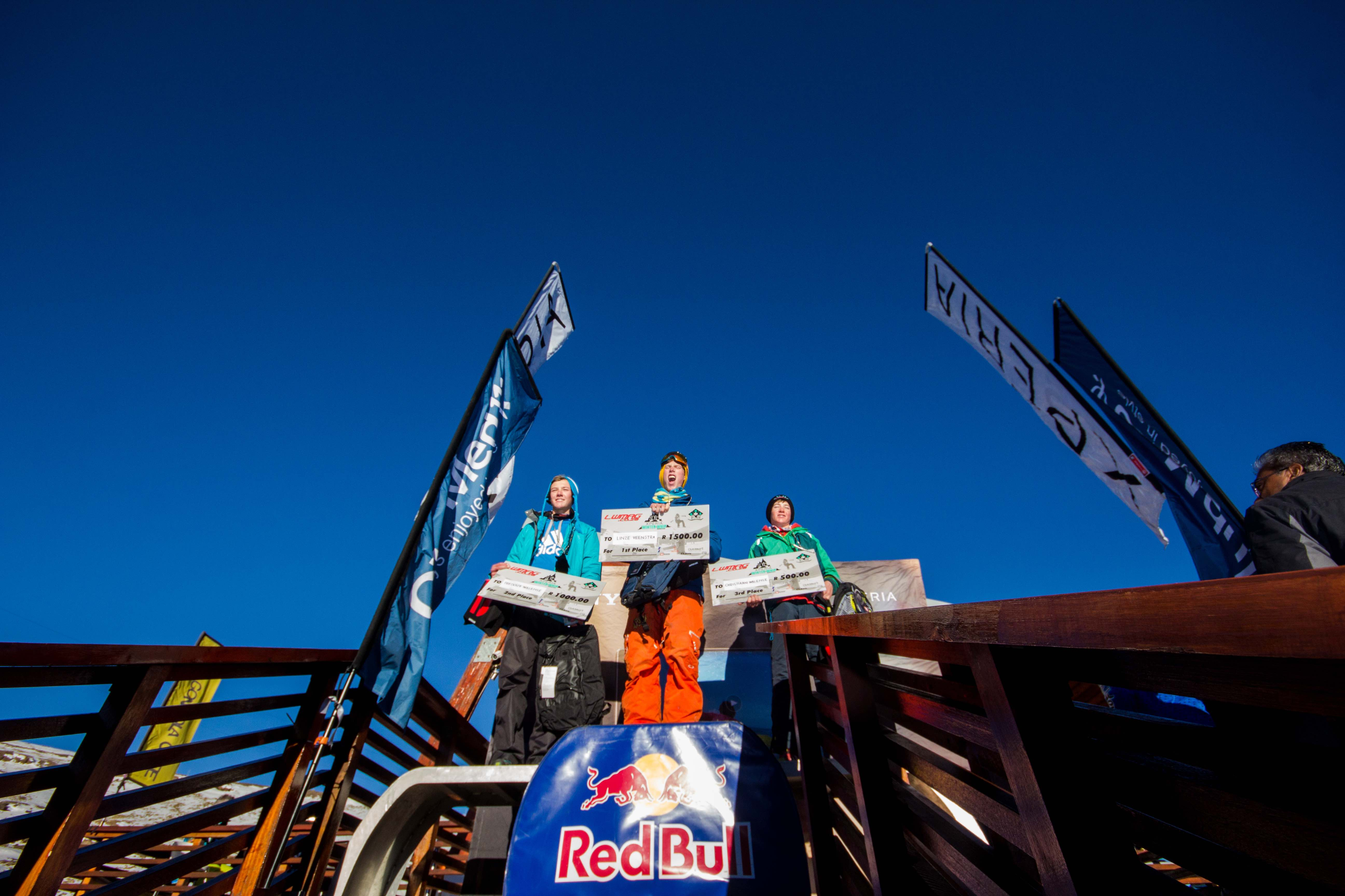 Ski podium at Xperia Winter Whip 2016