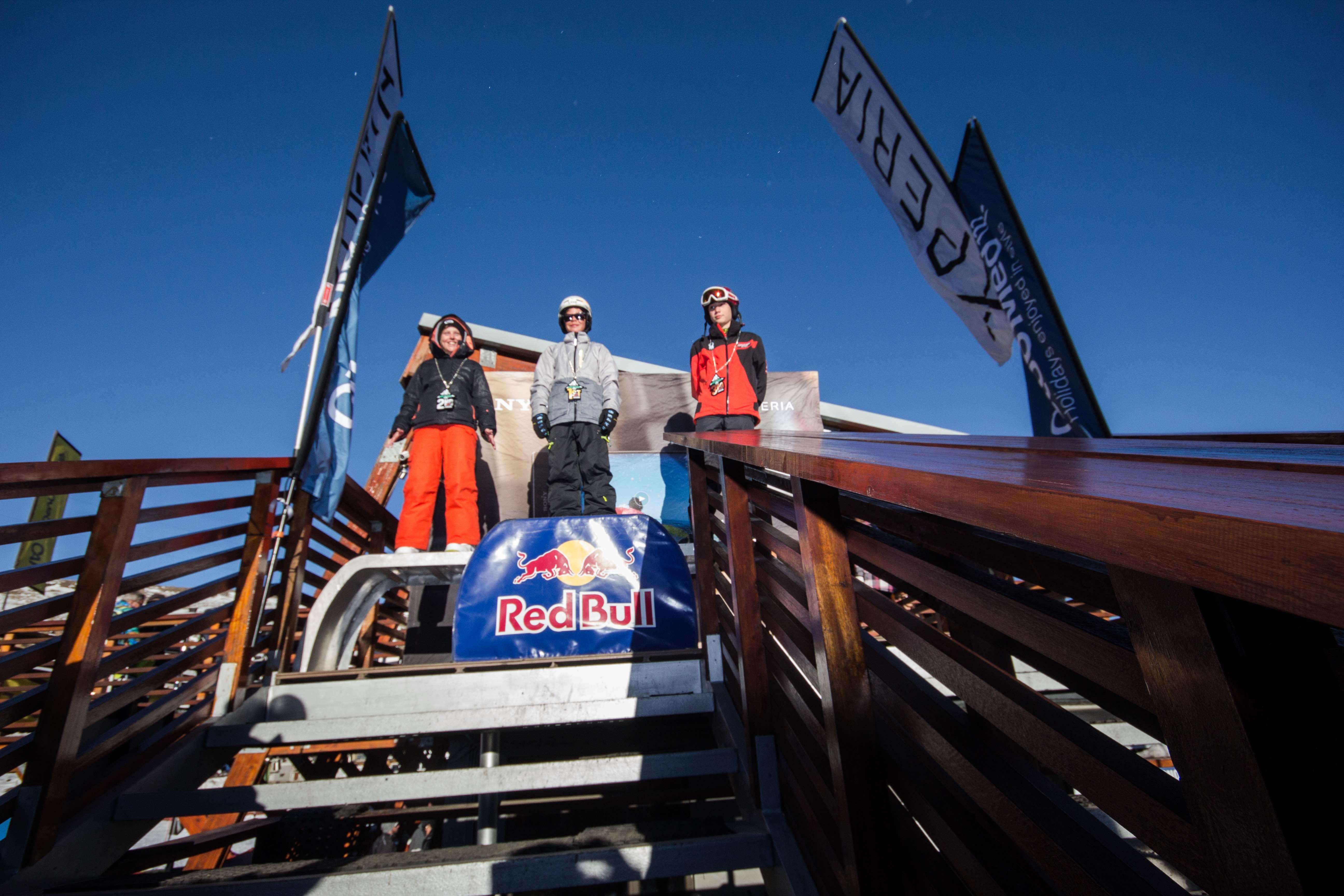 Junior podium at Xperia Winter Whip 2016